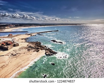 Aerial photo at the beach with amazing colors