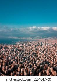 Aerial photo of Beirut city - lebanon