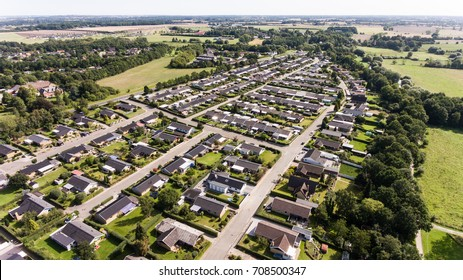 Aerial photo of the city Odense in Denmark