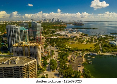 Aerial photo Coconut Grove Miami Florida