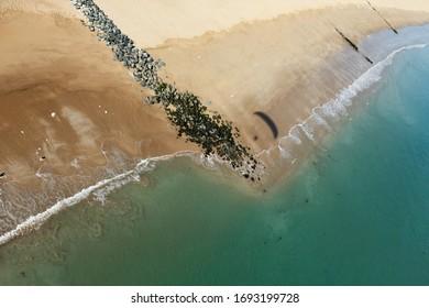Photo aérienne de la plage de Gautrelle à paramotor, sur l'île d'Oléron, département de Charente-Maritime, à    Région de Nouvelle-Aquitaine, France, Europe