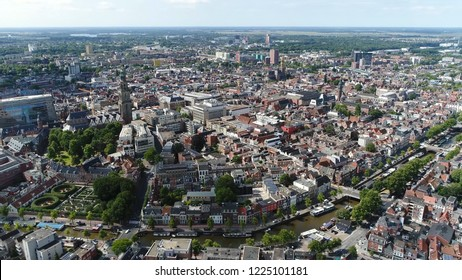 Aerial photo of Groningen city center the main municipality as well as the capital the eponymous province in the Netherlands it is the largest town in the north of Holland