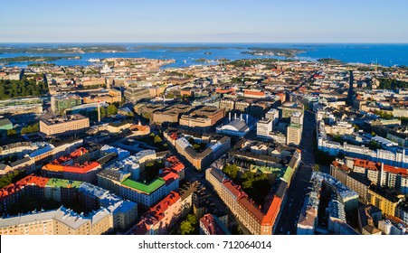 Aerial photo of Helsinki, capital of Finland