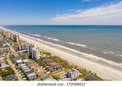 Aerial photo Jacksonville Beach FL closed due to Coronavirus Covid 19 pandemic