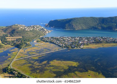 Aerial photo of Knysna in the Western Cape, South Africa
