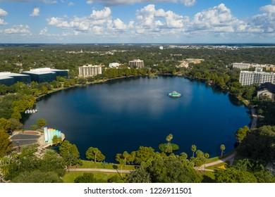 Aerial photo Lake Eola Orlando Florida USA