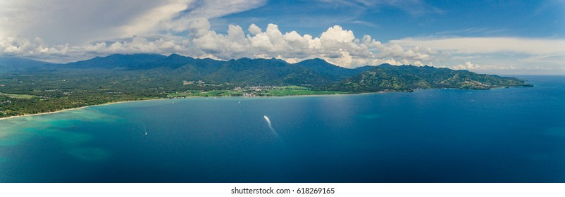 Aerial photo of Lombok Indonesia