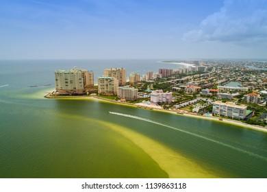 Aerial photo Marco Island Florida waterfront