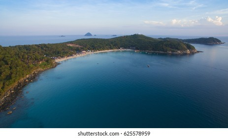 Aerial photo of Perhentian island in Malaysia