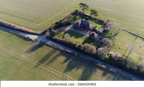 Aerial photo single-family detached home stand-alone house also called a single-detached dwelling detached residence or detached house is a free-standing residential building