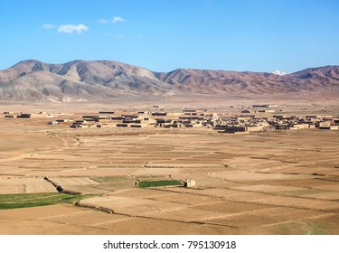 Aerial photo of small villages near Ghazni in Afghanistan