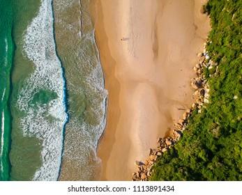 Aerial photo of a southern Brazilian beach - Shutterstock ID 1113891434