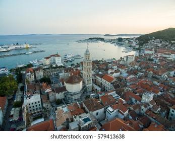 Aerial photo of Split, Croatia.