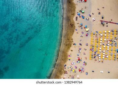 Aerial photo of summer beach