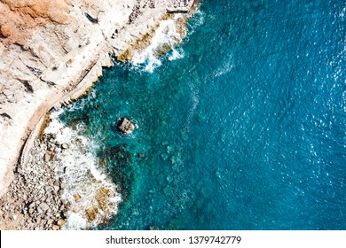 Aerial photo of summer beach and ocean