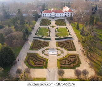 Aerial photo of Szechenyi Castle at Nagycenk, Hungary