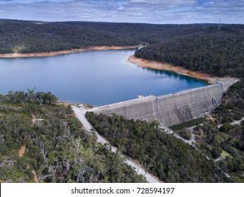 Aerial photo of Victoria Reservoir, Western Australia