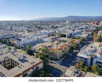 Aerial photo of Westwood, Los Angeles