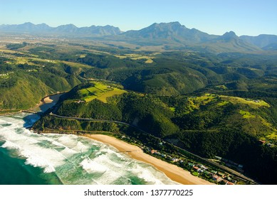 Aerial photo of Wilderness on the Garden Route, South Africa