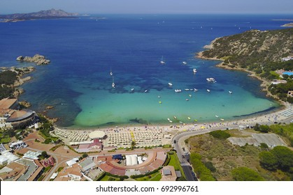 Aerial photograph of Baja Sardinia in Emerald Coast.