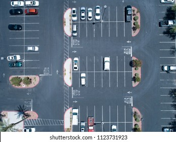 Aerial photograph of parking lot of sightseeing spot. Cute design.