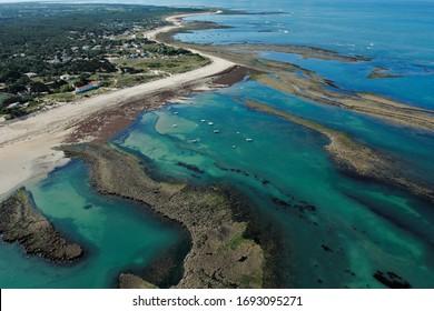Photo aérienne de la Pointe de Chaucre vue du ciel, Saint-Georges-d'Oléron, département de Charente-Maritime, région Poitou-charentes, France, Europe