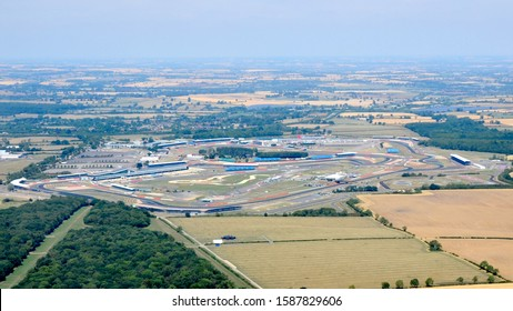 Aerial photograph of Silverstone Circuit