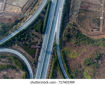 Aerial photography bird-eye view of City viaduct bridge road streetscape landscape