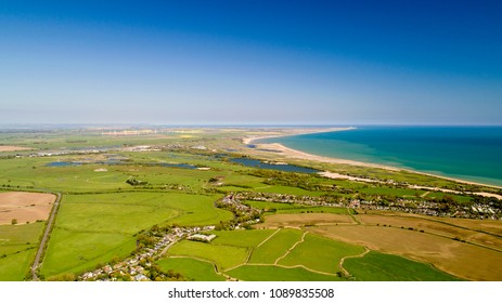 Aerial photography of Camber and Rye Harbour in East Sussex