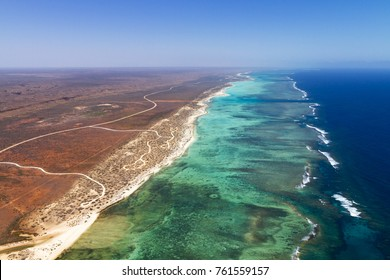 Aerial photography of Cape Range National Park and Ningaloo Reef, Exmouth Western Australia