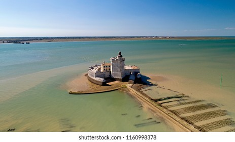 Aerial photography of Fort Louvois in Charente Maritime