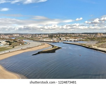 Aerial photography over Vila do Conde with amazing colors and detail