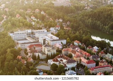 Aerial photography of the Technical University in Liberec. - Shutterstock ID 1213685782