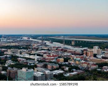 Aerial Photography Views of Savannah GA - Shutterstock ID 1585789198