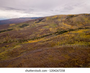 Aerial photos of Colorado fall colors aspens mountains and roads