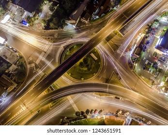 Aerial photos of the Jombor flyover, Yogyakarta Indonesia