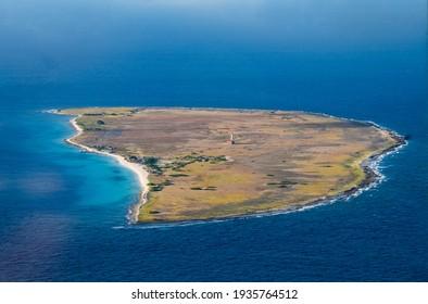 Aerial Photos of Klein Curacao a Caribbean Island