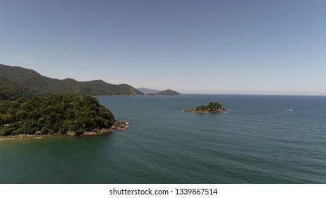 Aerial photos from Praia de Castelhanos - Ilhabela - Brazil