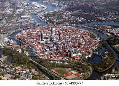 Aerial Picture of the Hanseatic City of Lübeck (Luebeck) – Germany