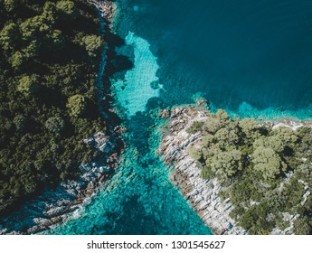 Aerial Picture of Island Mljet in Dalmatia, Croatia.