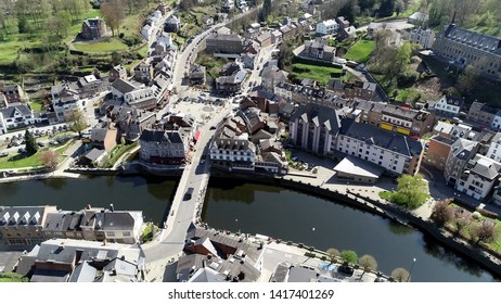 Aerial picture of La Roche en Ardenne is Walloon municipality of Belgium located in province of Luxembourg arrondissement of Marche Famenne and is one of most popular tourist destinations in Ardennes