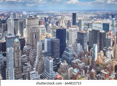 Aerial picture of Manhattan, New York City, USA.