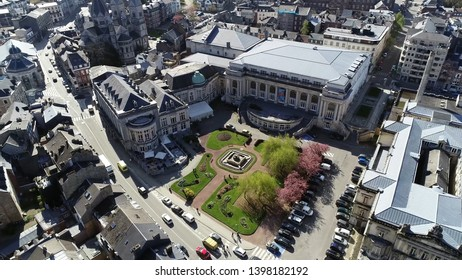 Aerial picture of Spa Casino is facility which houses and accommodates several types of gambling activities located in Ardennes a popular tourist destination because of beautiful nature