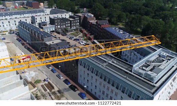 Aerial Picture Tower Crane Mast Modern Stock Photo (Edit Now) 1122772421