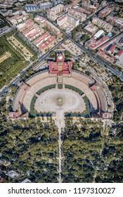 Aerial Plaza de Espana