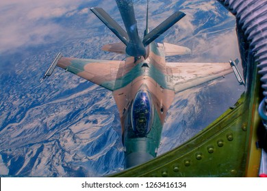 Aerial refueling mission over Alaska with an F-16