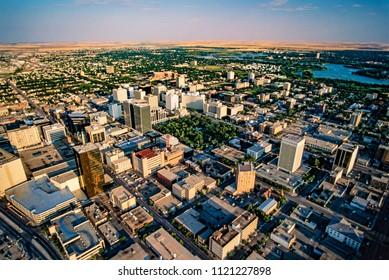 Aerial of Regina, Saskatchewan, Canada
