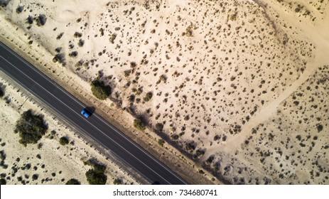 vista aérea en el desierto