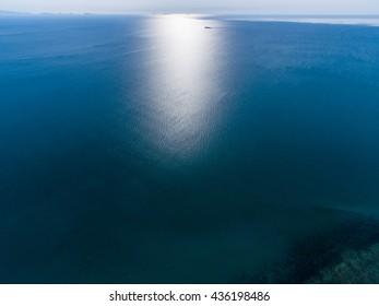 Aerial sea view