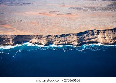 Aerial of Shark Bay / Zuytdorp cliffs, Denham, Western Australia